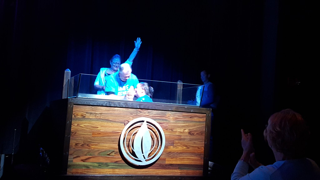 Getting baptized: praise the Lord.  photo credit: Amy Jo Greenwood
