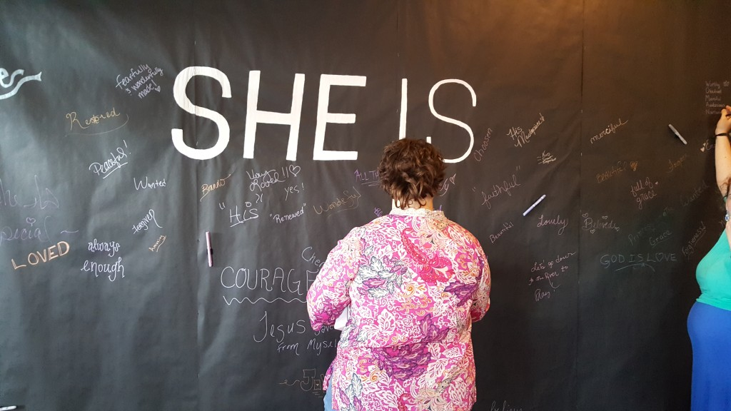 Writing on the wall at a Women's Conference. photo: Amy Jo Greenwood